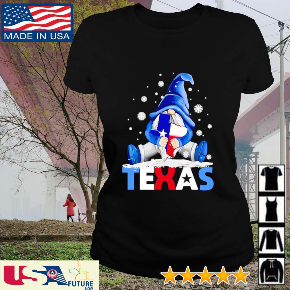Gnome hug Texas Snovid s ladies-tee