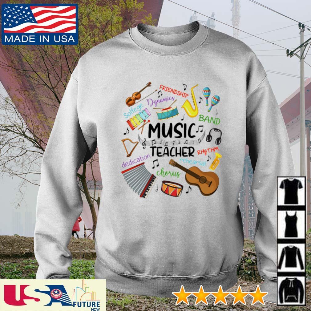 Music Teacher friendship dynamics solfege band rhythm chorus dedication s sweater