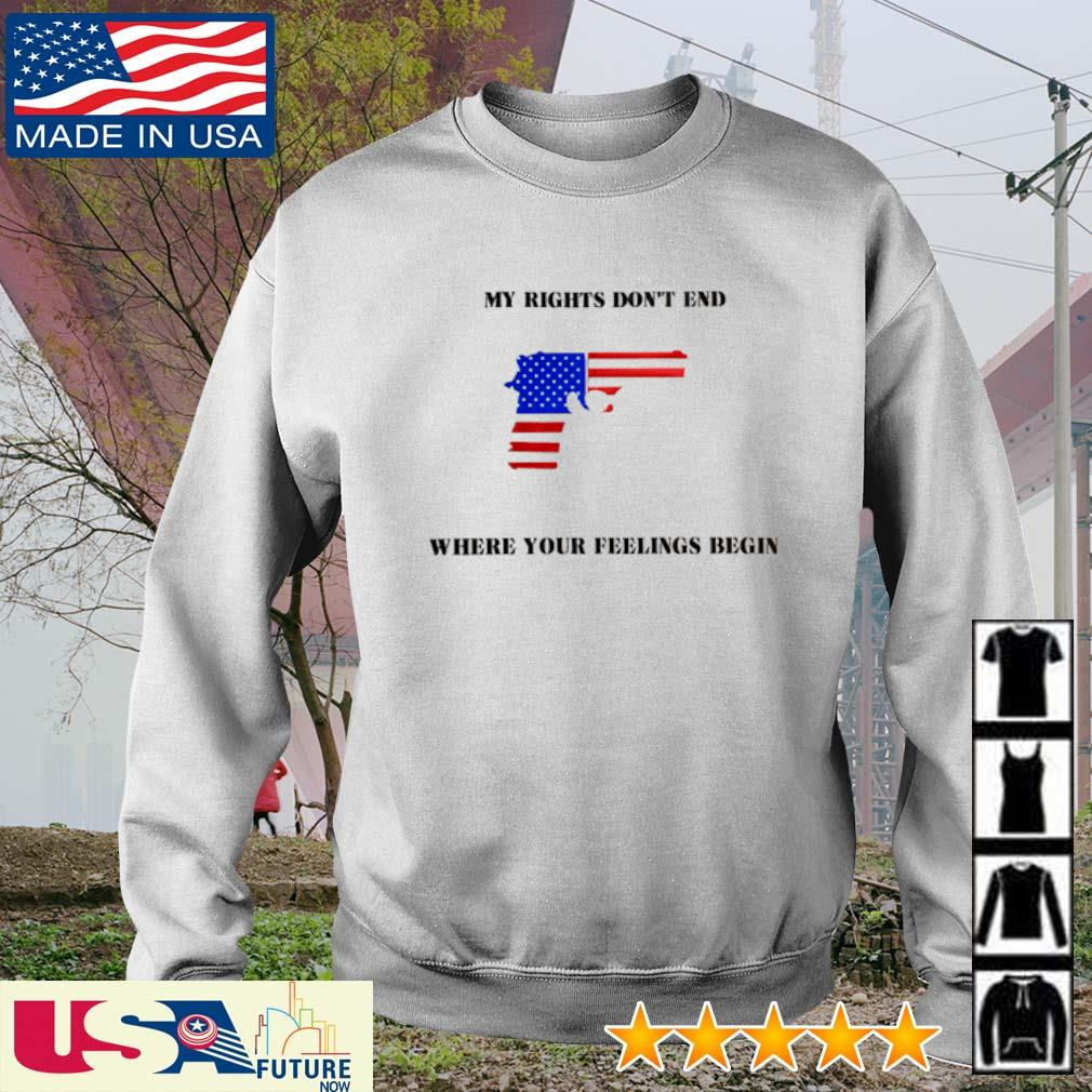 My rights don't end where your feelings begin America Flag s sweater