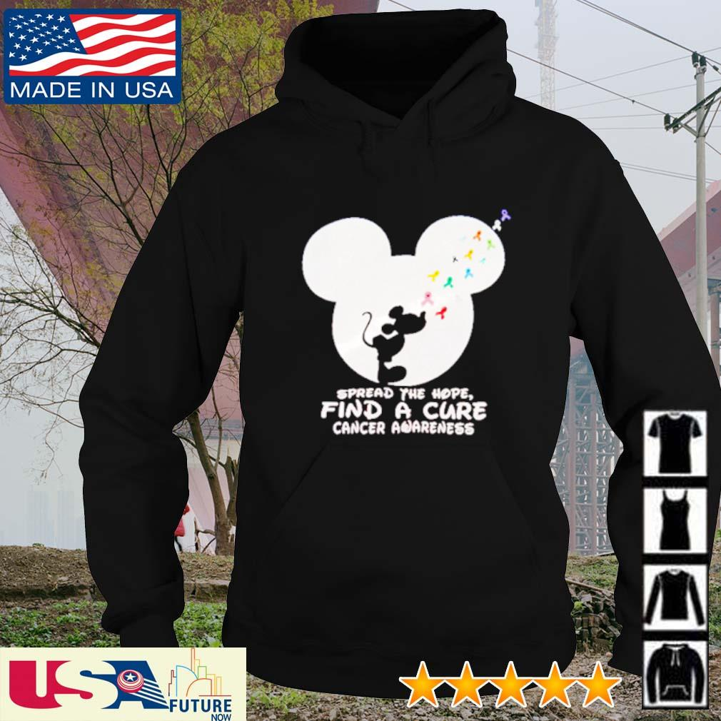 Spread the hope find a cure cancer awareness Mickey Mouse s hoodie