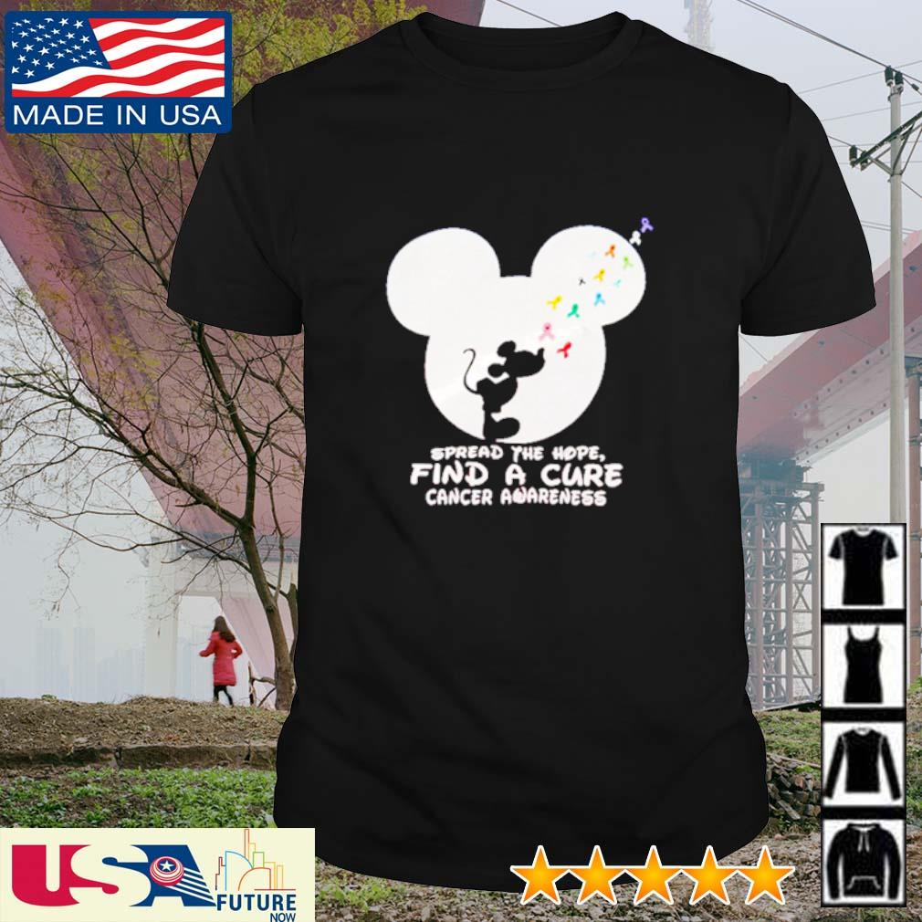 Spread the hope find a cure cancer awareness Mickey Mouse shirt