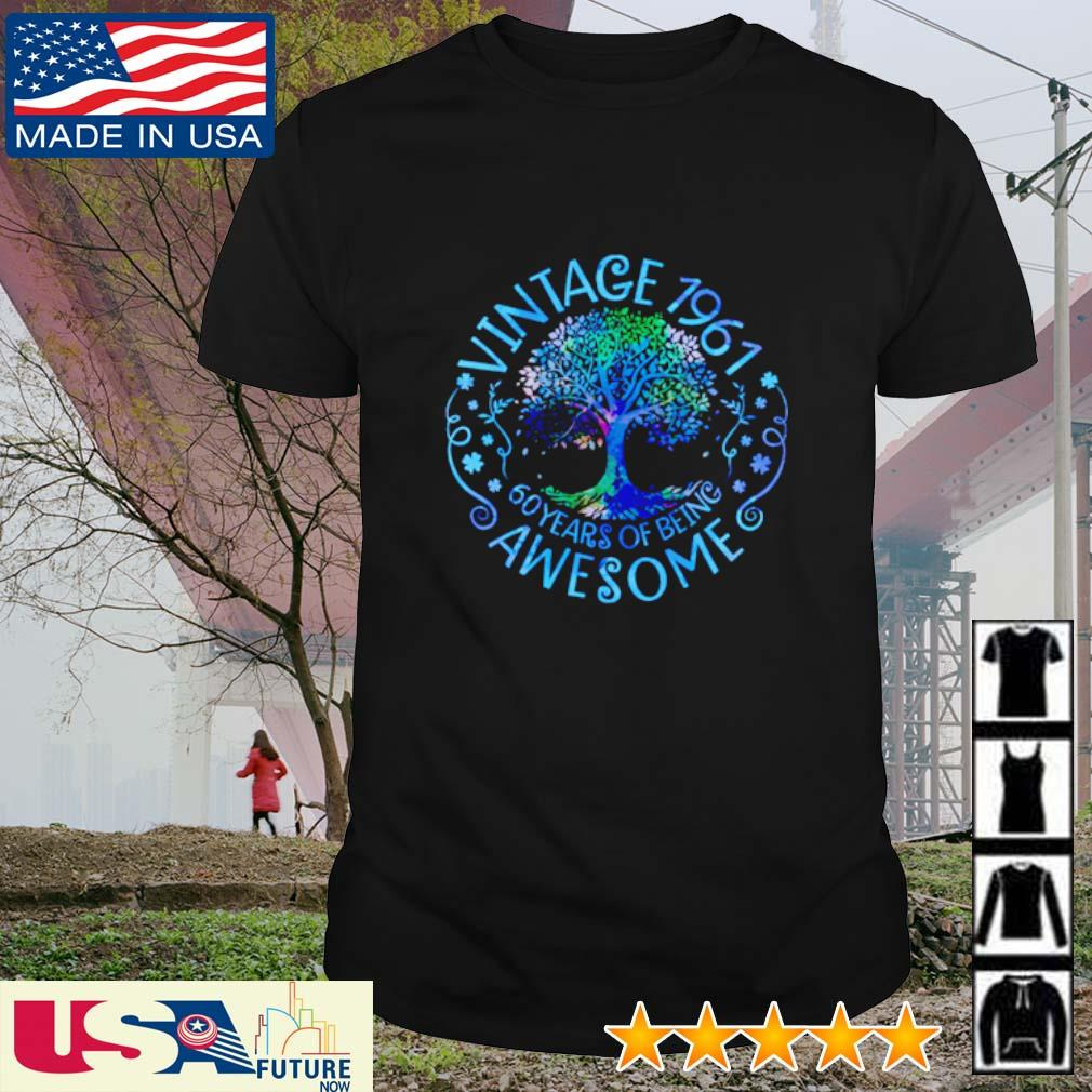 Vintage 1961 60 years of being awesome shirt