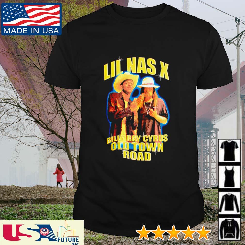 Lil Nas X Billy Ray Cyrus old town road shirt