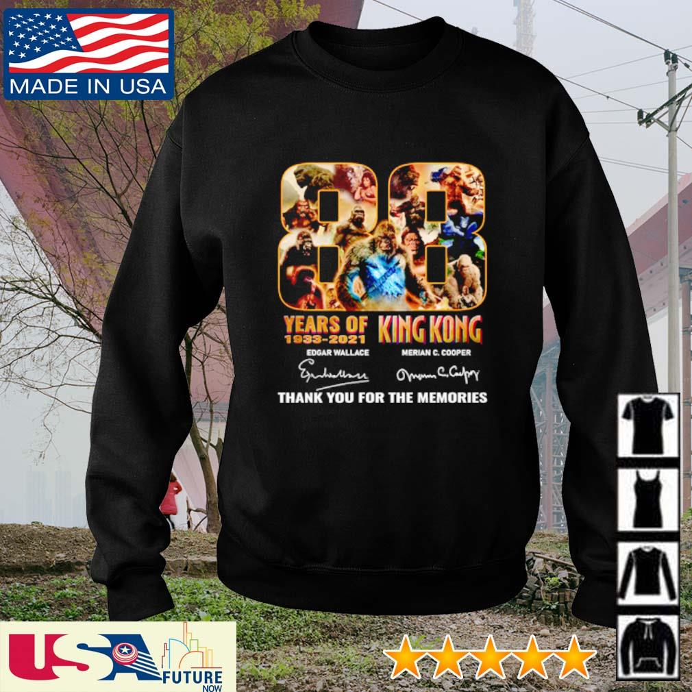 88 Years of 1933 - 2021 King Kong thank you for the memories signatures s sweater