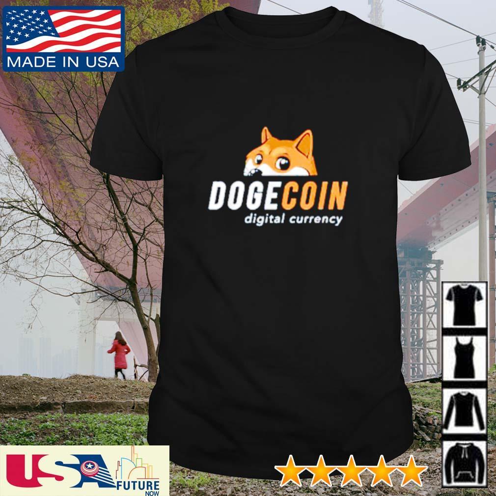 Dogecoin digital currency shirt