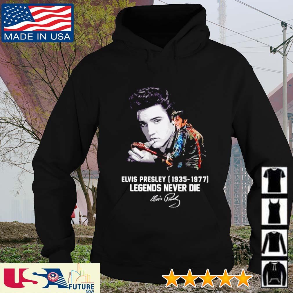Elvis Presley 1935 - 1977 legends never die signatures s hoodie