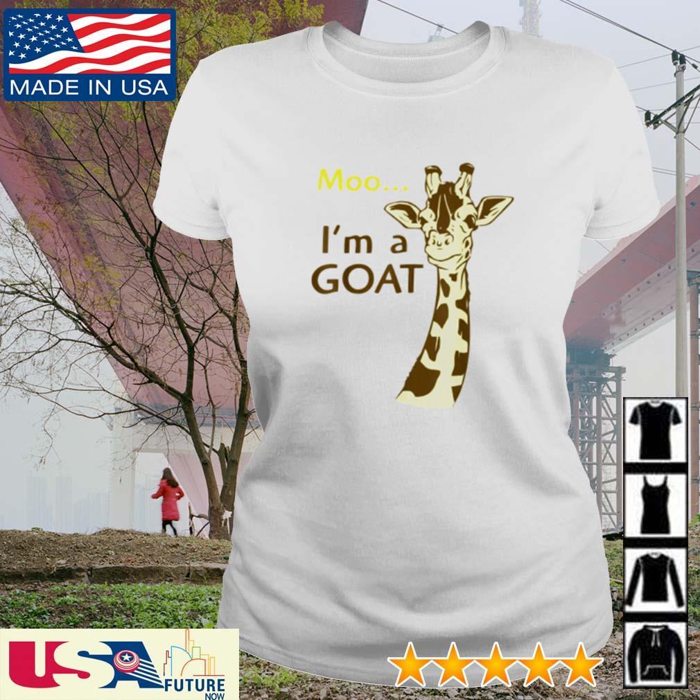 Giraffe Moo I'm a Goat s ladies-tee