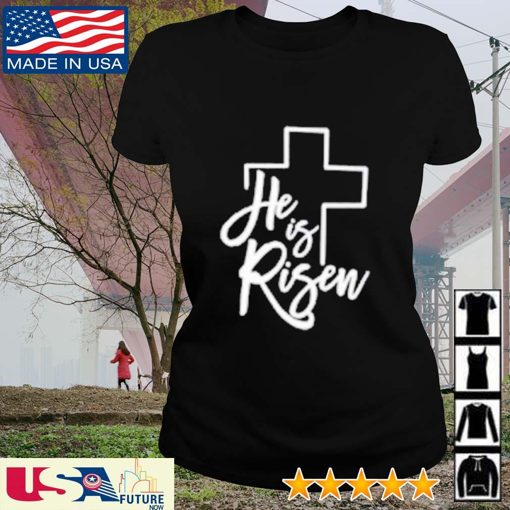 God he is risen s ladies-tee