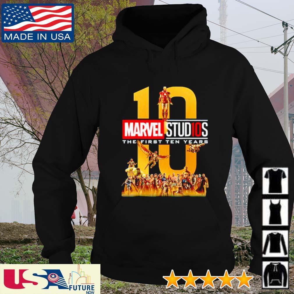 Marvel Studios the first ten years 10 s hoodie