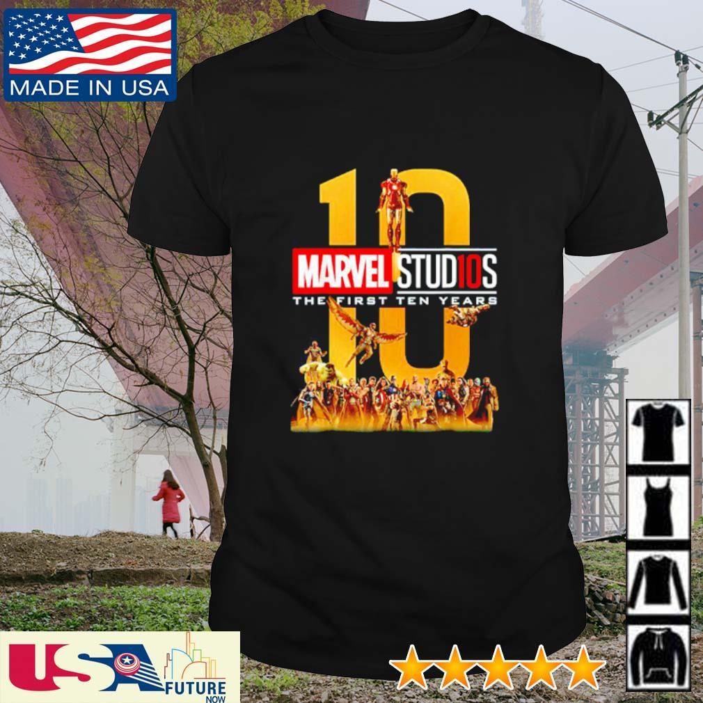 Marvel Studios the first ten years 10 shirt