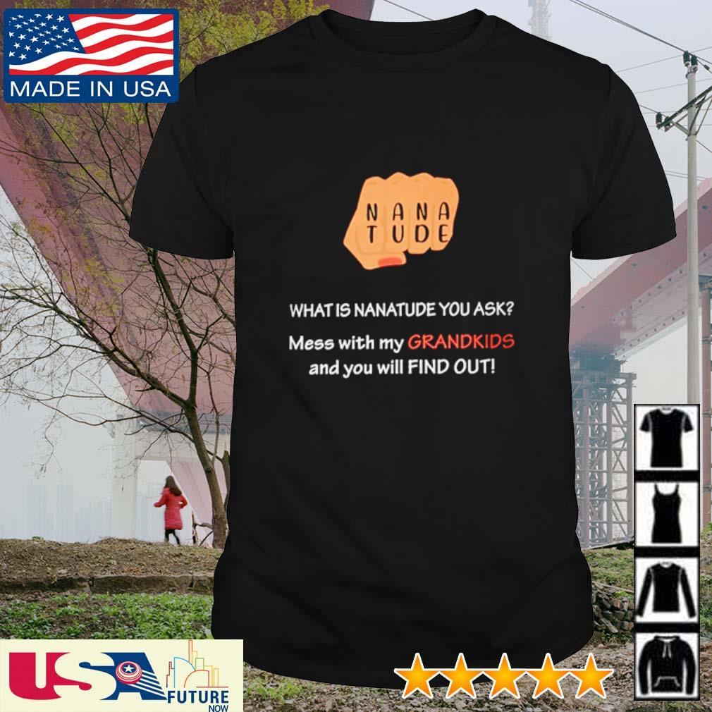 Nanatude what is nanatude you ask mess with my grandkids and you will find out shirt