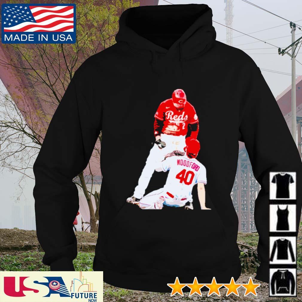 Nick Castellanos Cincinnati Reds Woodford 40 s hoodie