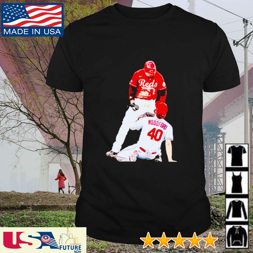 Nick Castellanos Cincinnati Reds Woodford 40 shirt