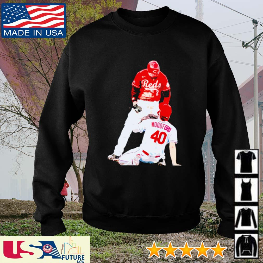 Nick Castellanos Cincinnati Reds Woodford 40 s sweater