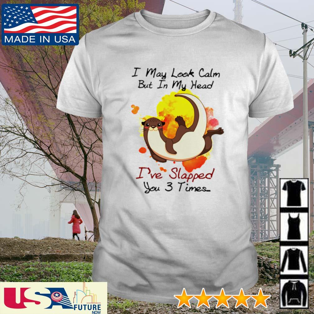 Otter I may look calm but in my head I've slapped you 3 times shirt
