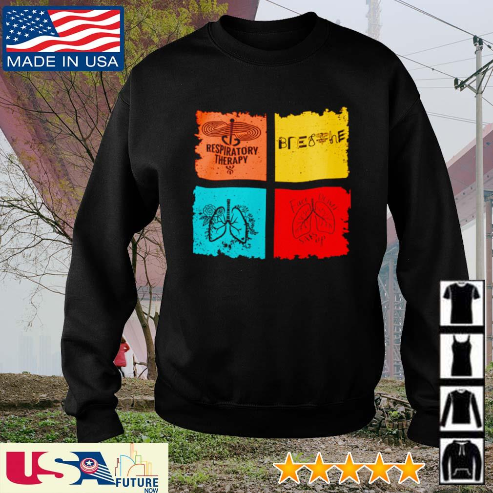 Respiratory Therapy Breathe face down sats up s sweater