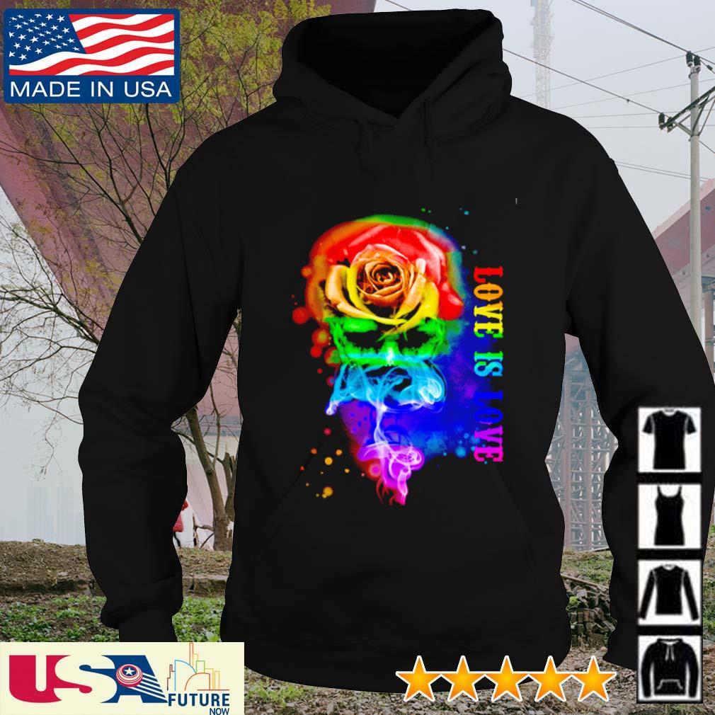 Skull flower love is love LGBT s hoodie