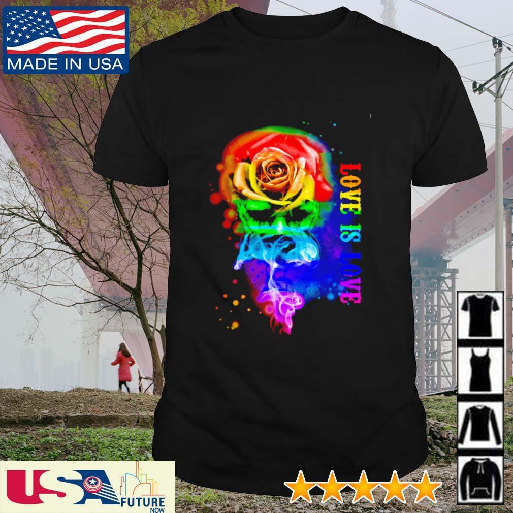 Skull flower love is love LGBT shirt