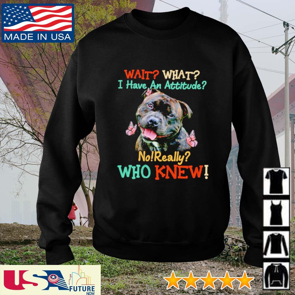 Staffordshire Bull Terrier wait what I have an attitude no really who knew s sweater