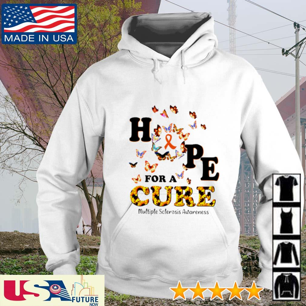 Sunflower hope for a cure multiple sclerosis awareness s hoodie