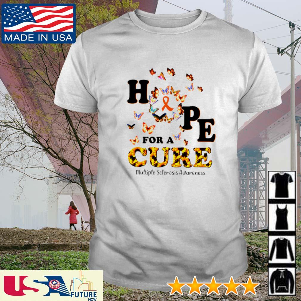 Sunflower hope for a cure multiple sclerosis awareness shirt