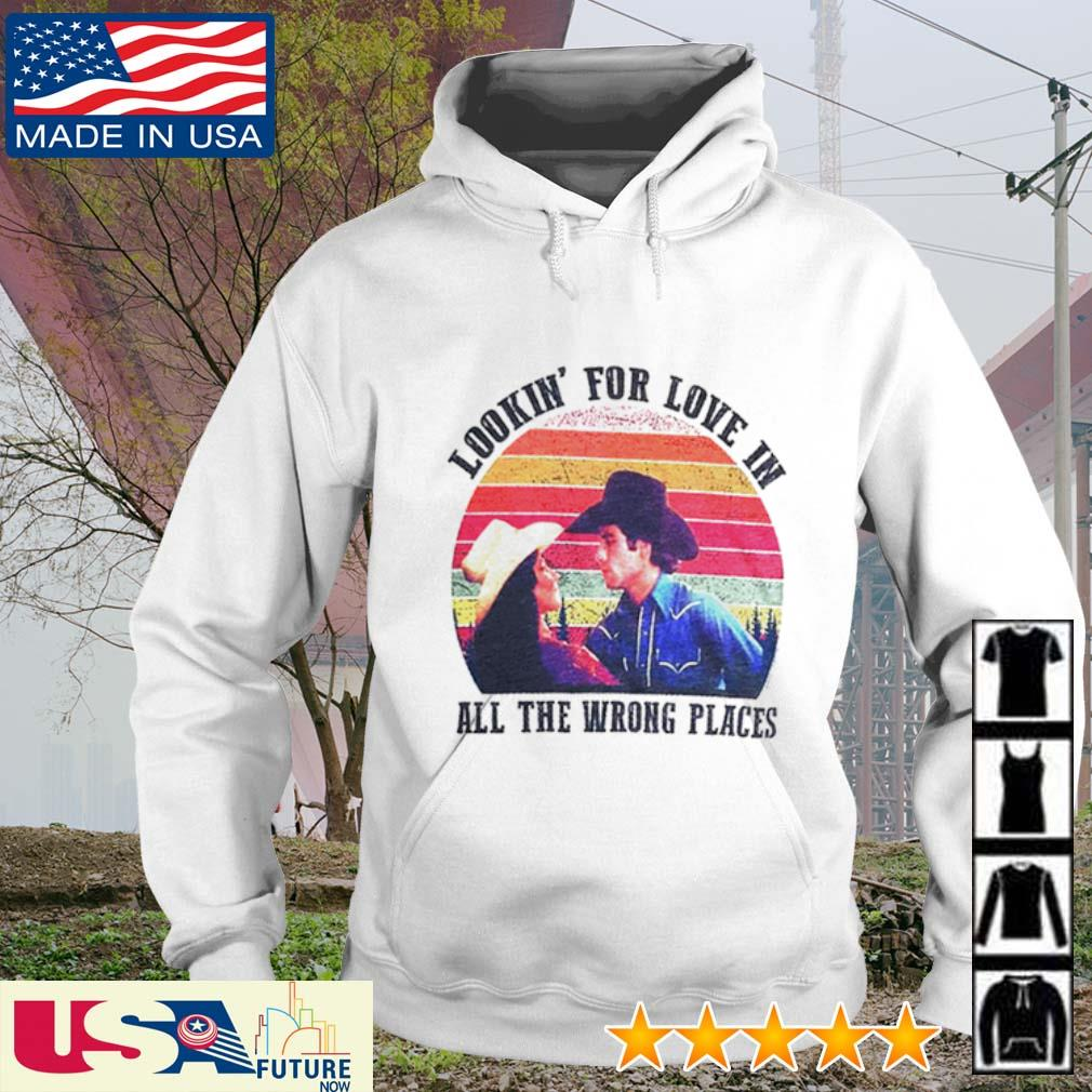 Sunset Urban Cowboy lookin' for love in all the wrong places s hoodie