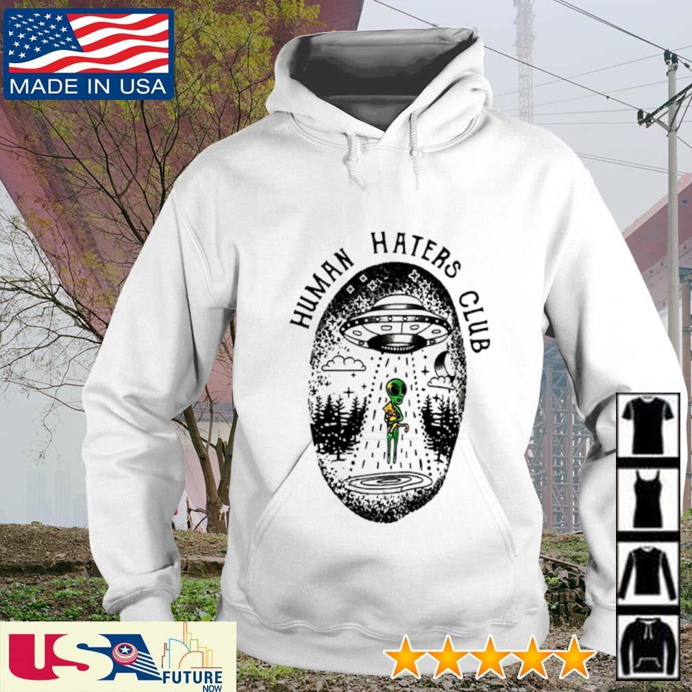 UFO Alien hug cat human haters club s hoodie