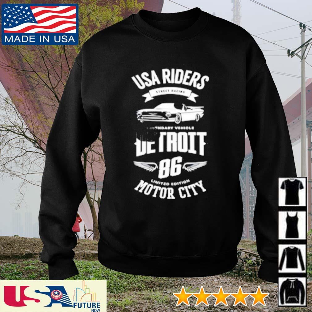 USA riders street racies detroit 86 limited edition motor city s sweater