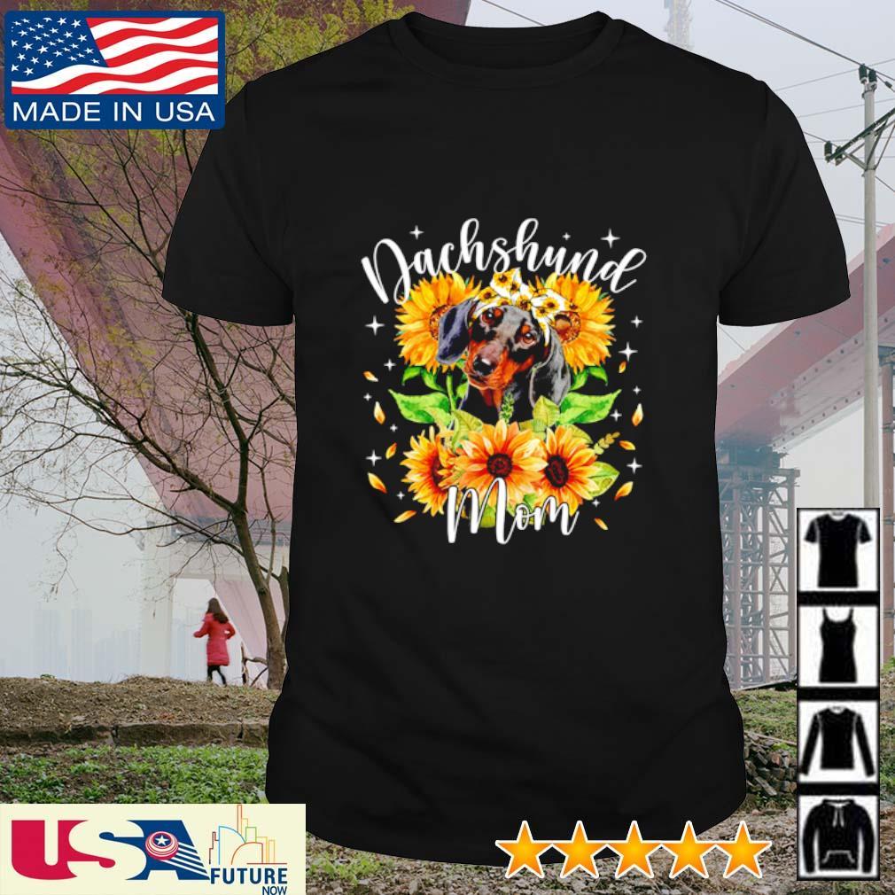 Dachshund mom sunflower shirt