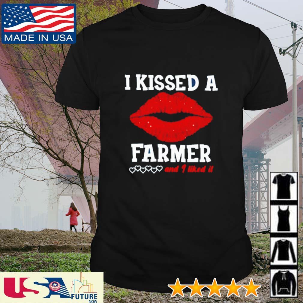 Awesome Lip I kissed a farmer and I liked it shirt